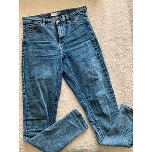 Top Shop Indigo Avis Jaimie Jeans, size W30L34